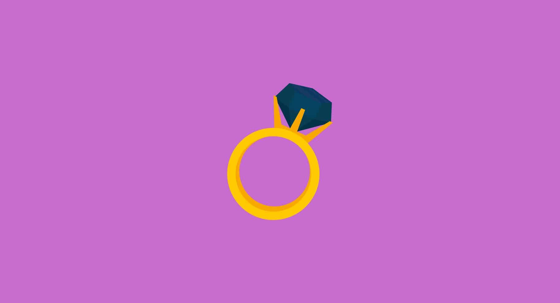 black diamond engagement ring illustration