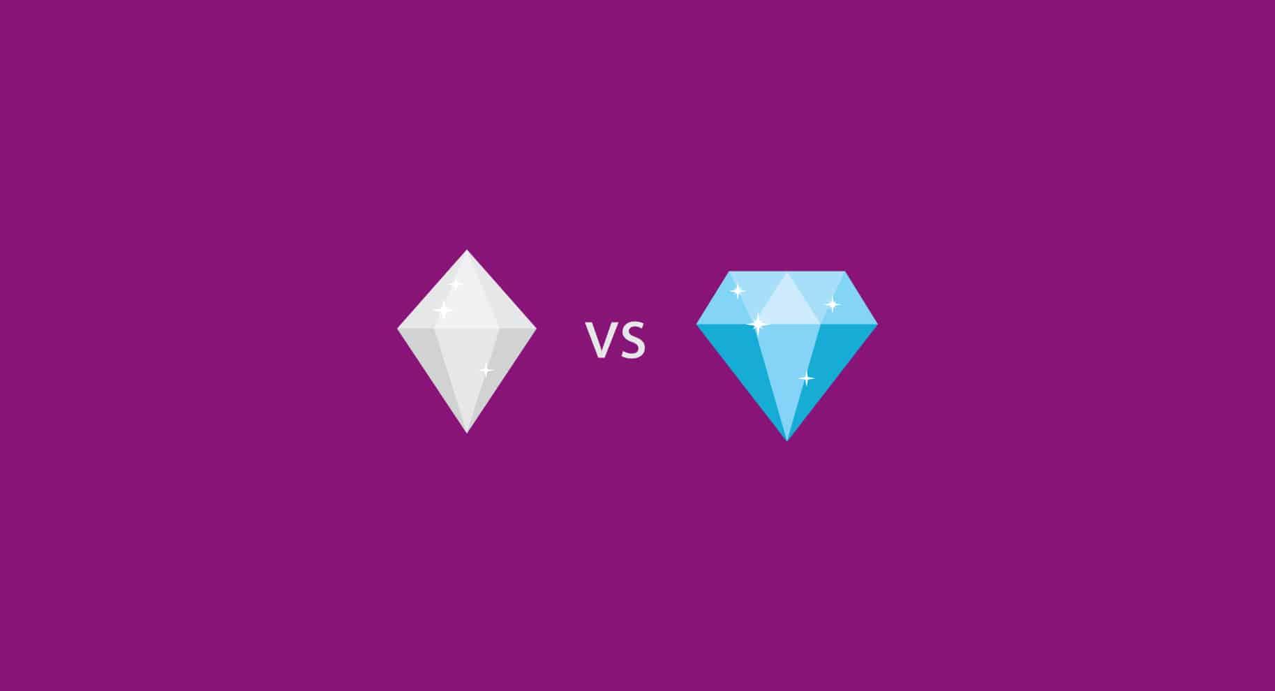 cubic zirconia vs diamonds illustrations
