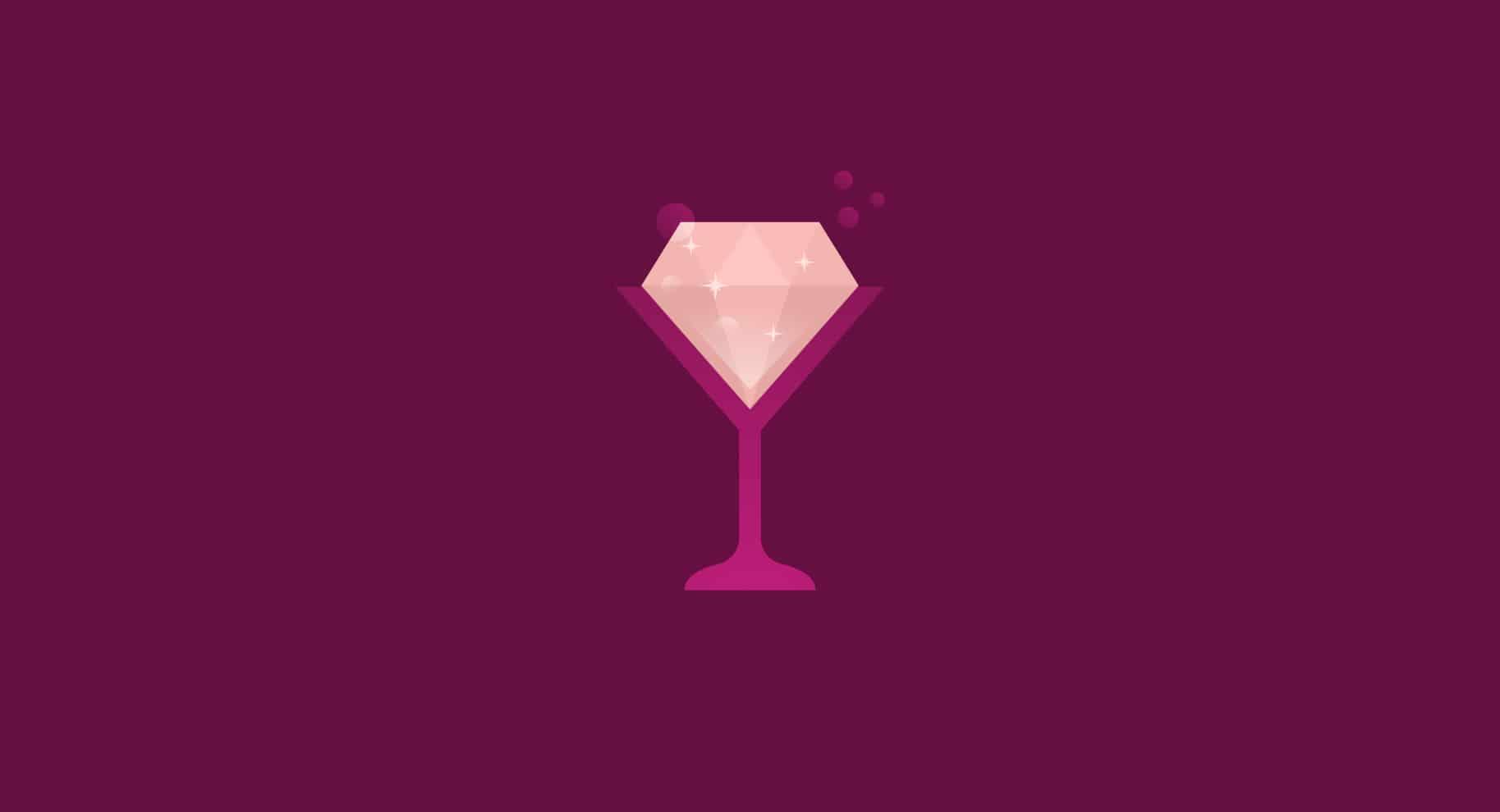 champagne diamond illustration
