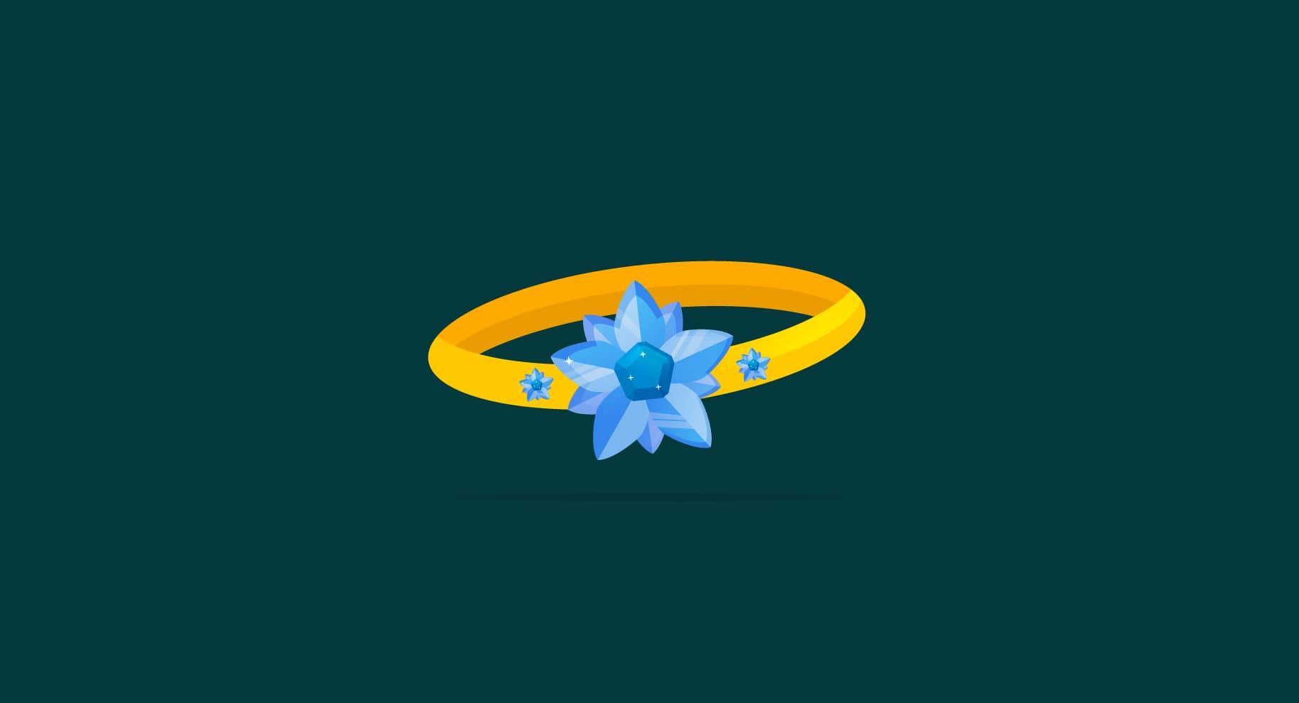 flower engagement ring illustration