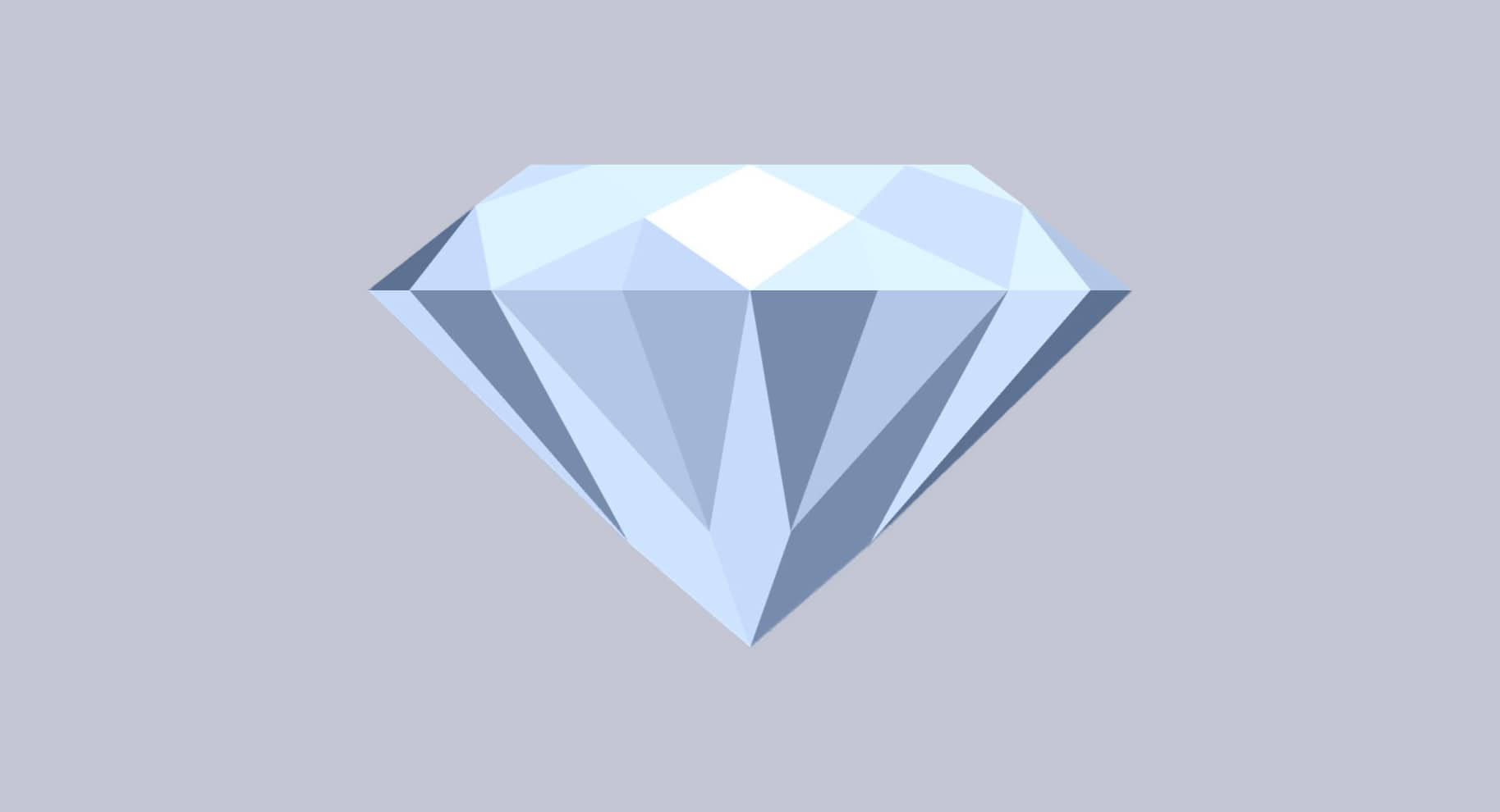 round cut diamond illustration