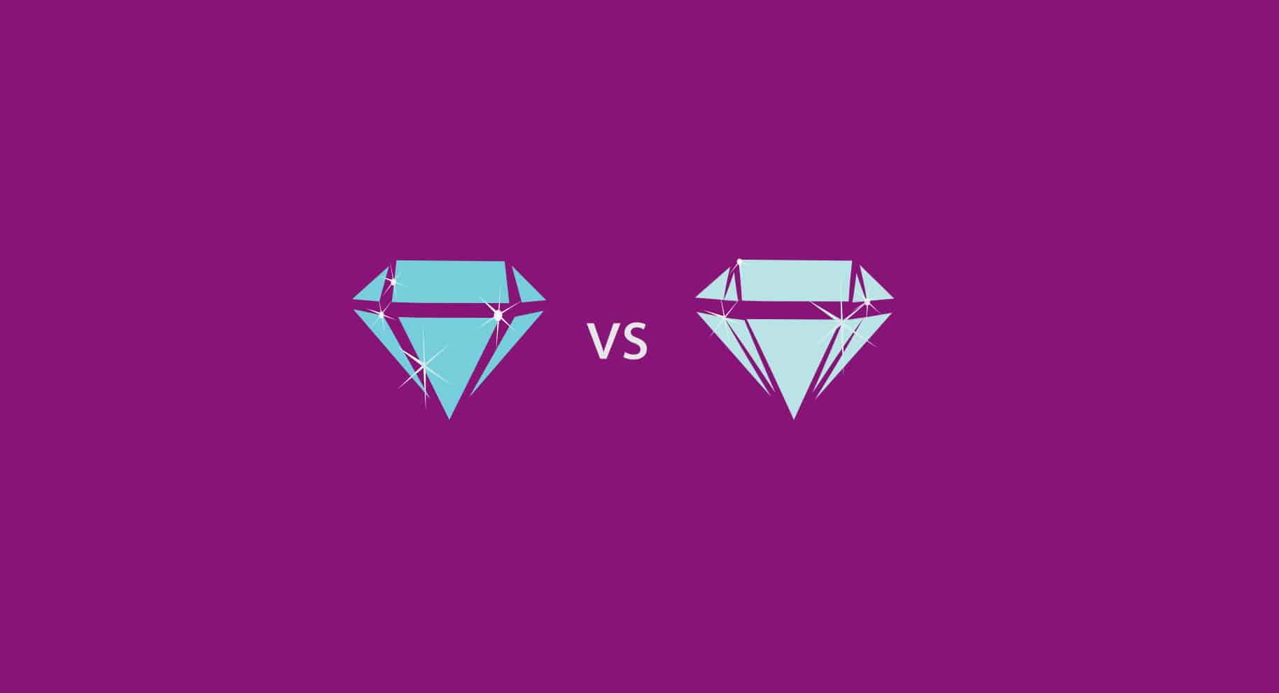 Moissanite vs Diamonds illustration