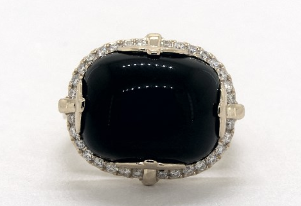 black onyx ring from james allen