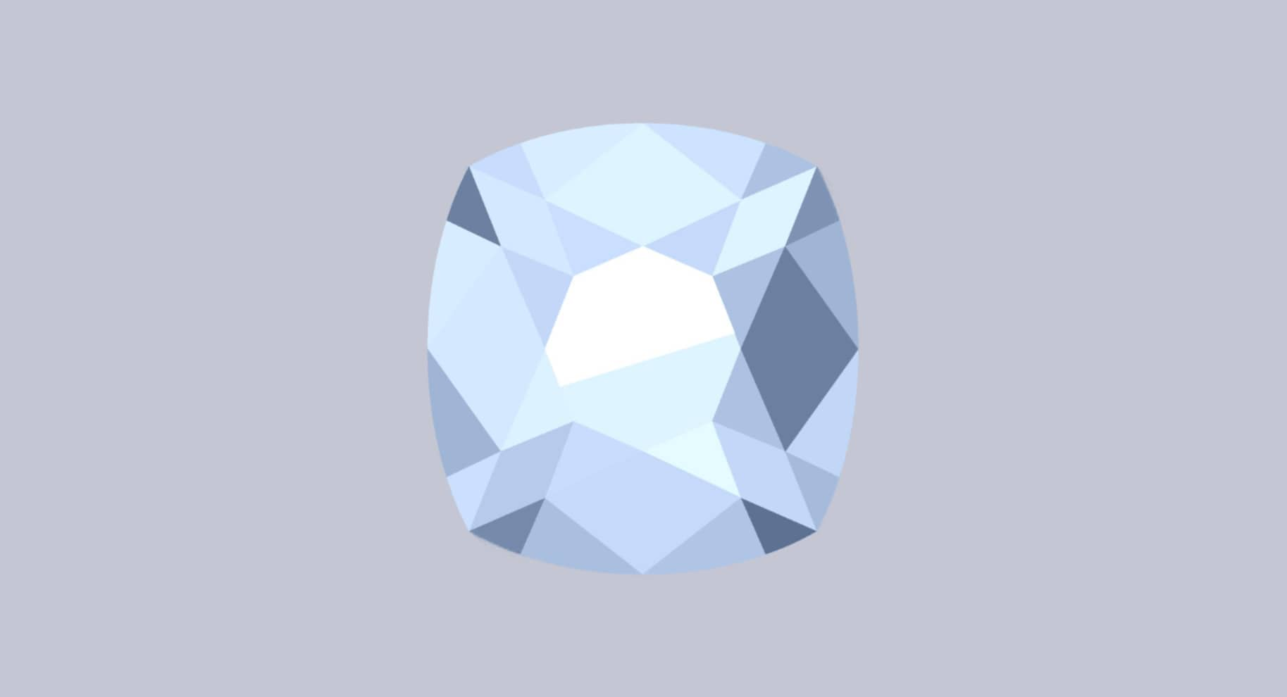 cushion cut diamond illustration
