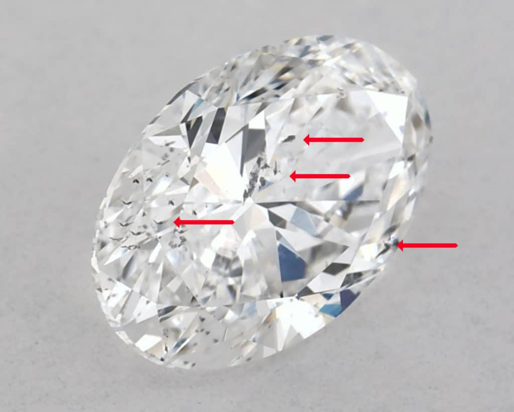 diamond inclusion