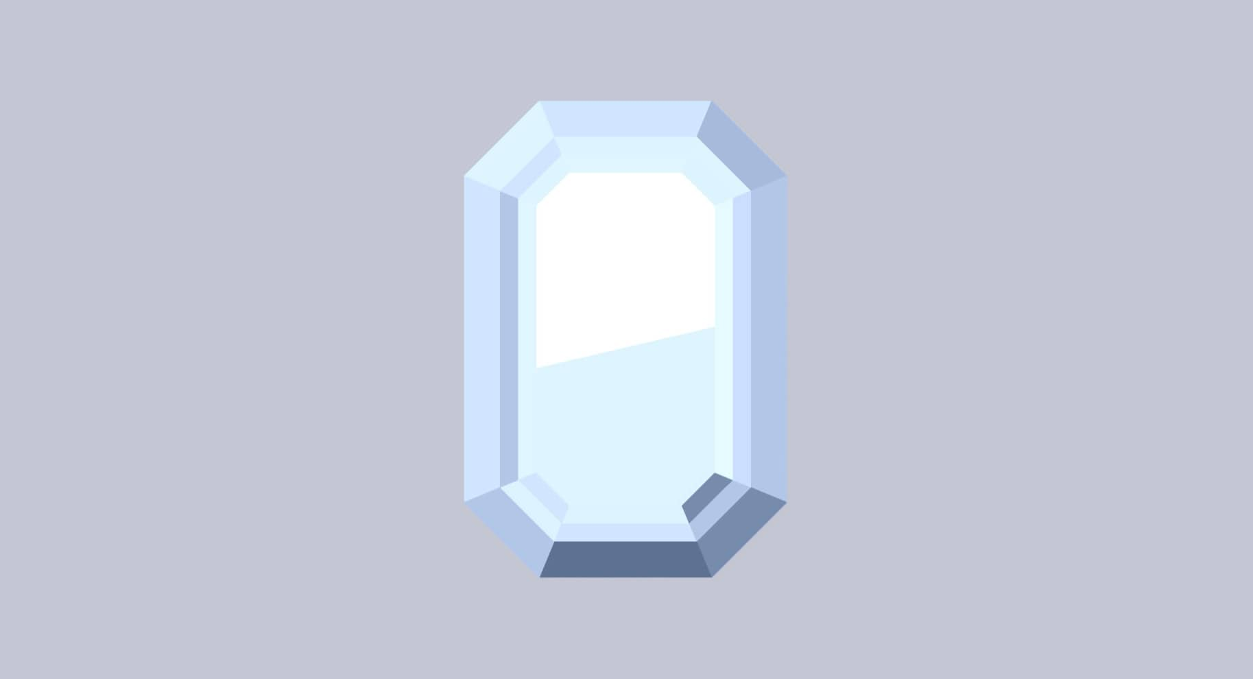 emerald cut diamond illustration