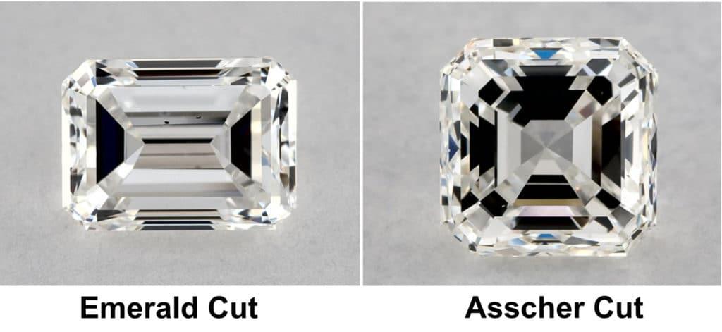 emerald vs asscher cut diamond
