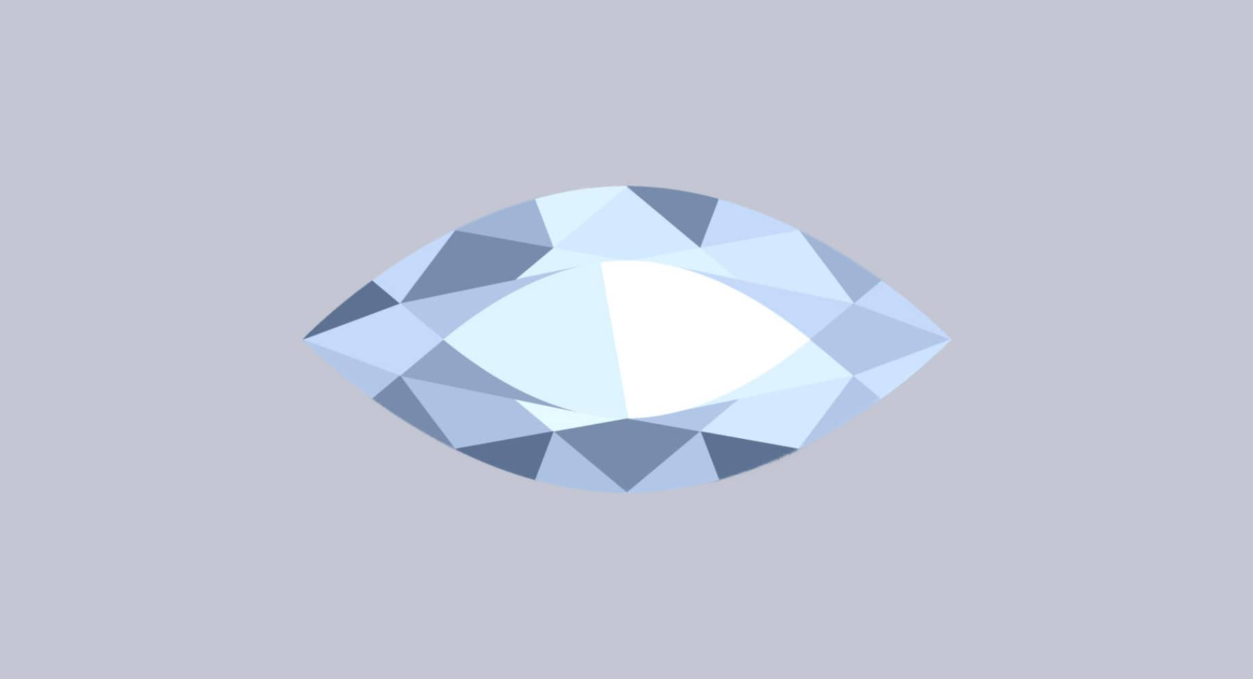 marquise cut diamond illustration