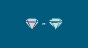 morganite vs moissanite illustration