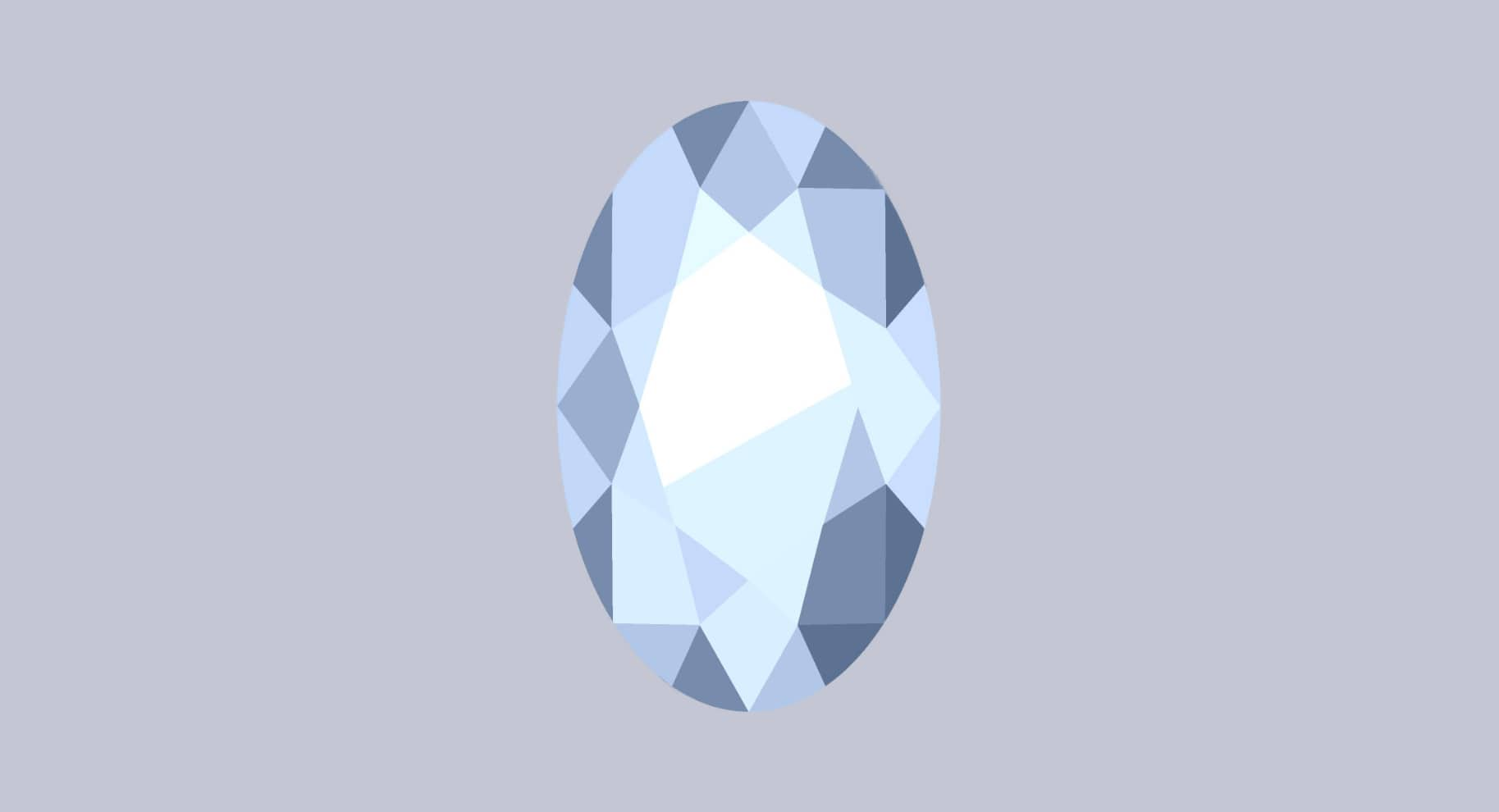 oval cut diamond illustration