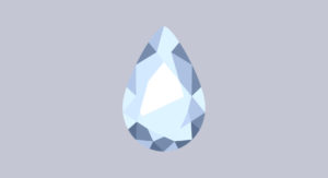 pear cut diamond illustration