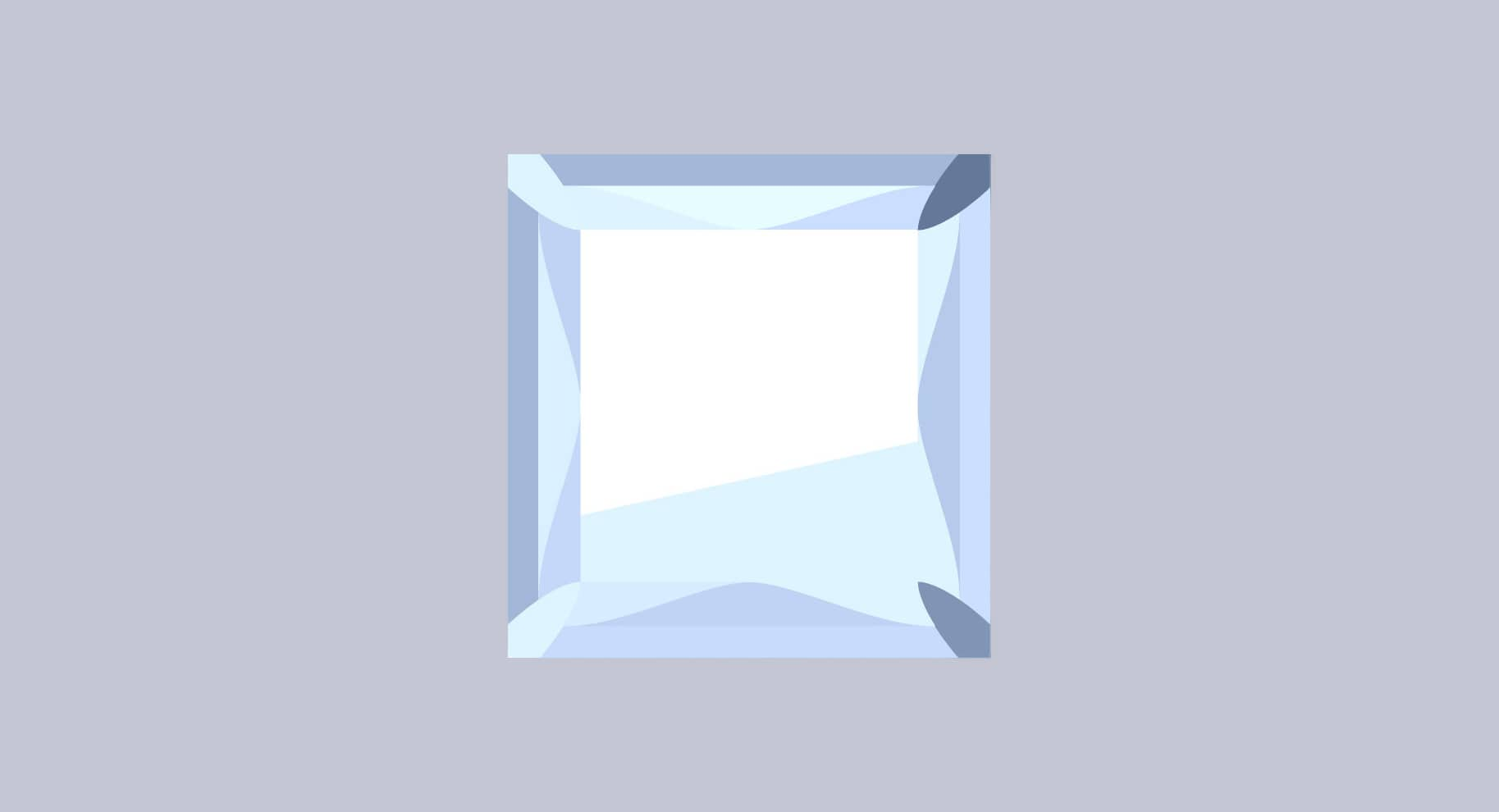 princes cut diamond illustration